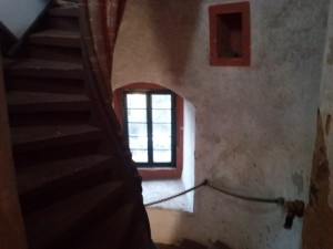 Treppenaufgang in der Burg