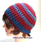 Mütze rot und blau