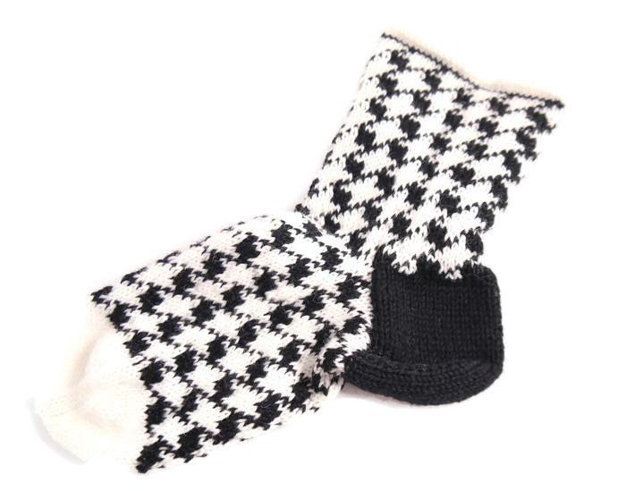 Socken Im Hahnentritt Muster Schickes Und Schönes