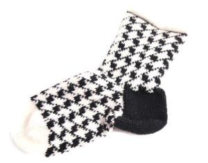 Socken schwarz weiß