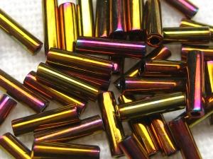 6mm Stiftperlen von Miyuki, Farbe: 462 (Metallic Gold Iris)