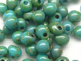 Miyuki Drop Beads DP-4514 (Opaque Turquoise Blue Picasso)