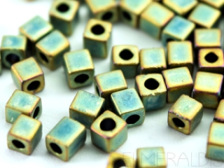 MIYUKI Cubes 3 mm, Farbe: 2008 (Matte Teal AB)