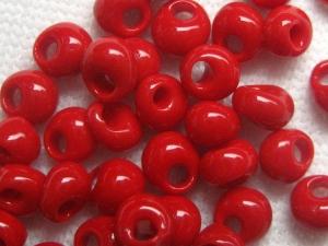 Tropfenperlen der Firma TOHO Farbe: 45  (Opaque Pepper Red)