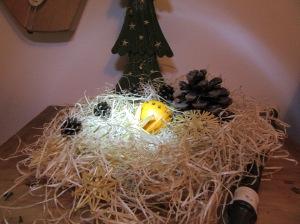 Weihnachtsdeko Orange und Stroh