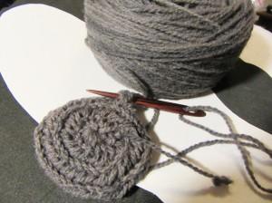 nadelgebundenen Handschuhe im Korgen-Stich / mittens worked in Korgen stitch
